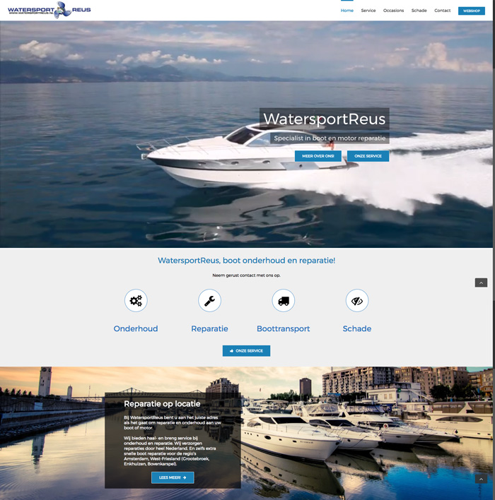 Watersportreus Website